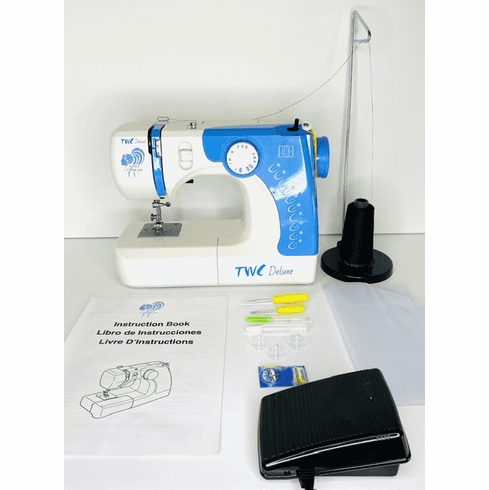Blue TWC Deluxe Sewing Machine ON BACK ORDER 2/28/21