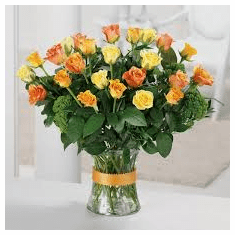 Beauty of 15 MULTICOLOR  Roses Bouquet