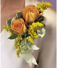 T091-01 Double Rose Corsage