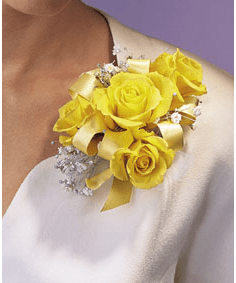 T091-03 Four Rose Corsage