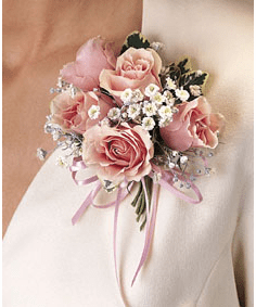 T091-04 Five Rose Corsage