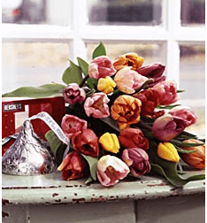 Tulips with Hershey®'s Kisses™