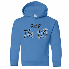 """SKY BLUE HOODIE WITH """"REP THE DO"""" SLOGAN"""