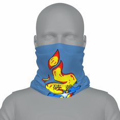 SKY BLUE SELF MASTERY SYMBOL NECK GAITER
