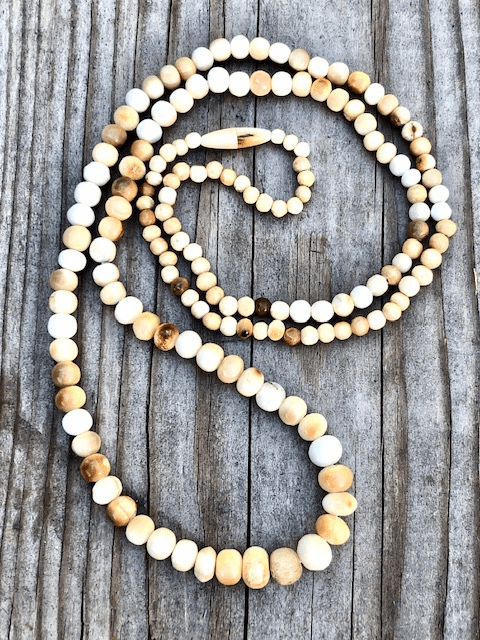 FOSSIL IVORY GRATUDATED BEAD NECKLACE