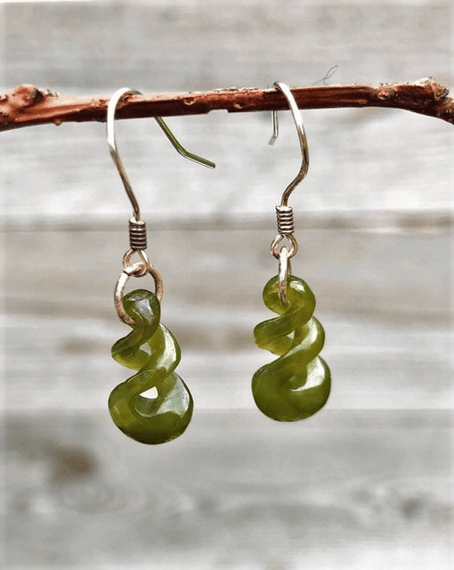 JADE TRIPLE TWIST EARRINGS