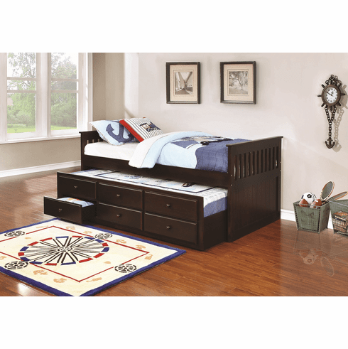 300106 Daybed with Trundle and Storage by Coaster
