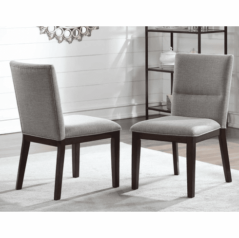 Amalie Grey Dining Chairs (includes 2 chairs)