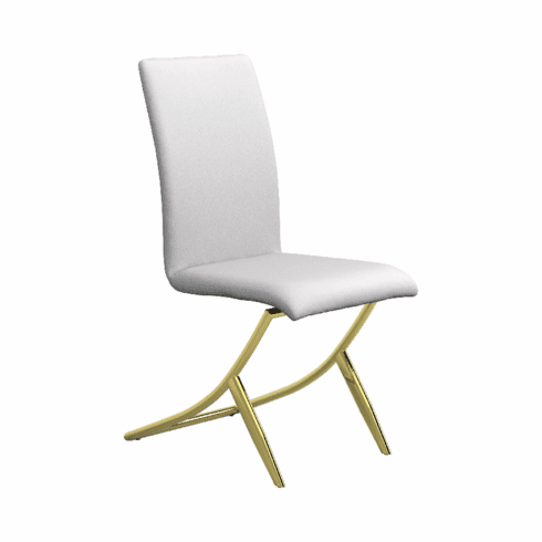 Chantar White Dining Chairs(includes 4 chairs)