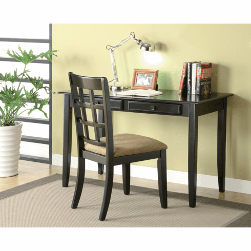 Newton Black Desk and Chair by Coaster