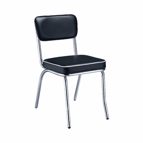Retro Black Dining Chairs (includes 2 chairs)