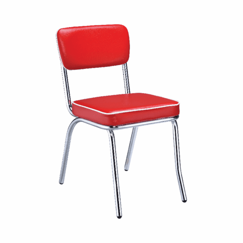 Retro Red Dining Chairs (includes 2 chairs)