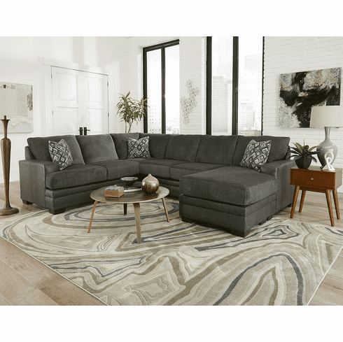 2720 Stallion Charcoal Sectional From Delta, Cook Brothers Living Room Sets