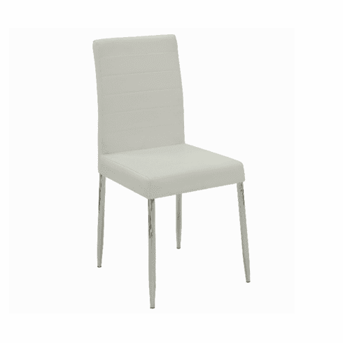 Vance White Dining Chairs (includes 4 chairs)