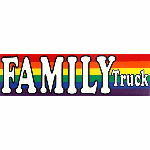Family Truck Bumper Sticker
