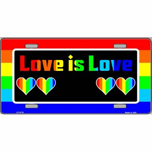 Love Is Love License Plate