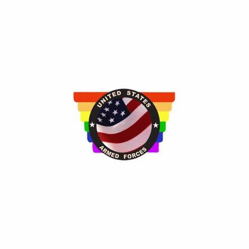 Rainbow Armed Forces Sticker