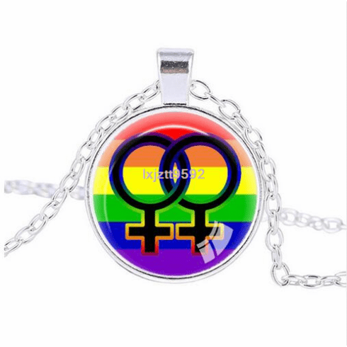 Rainbow Female Symbol Cabochon
