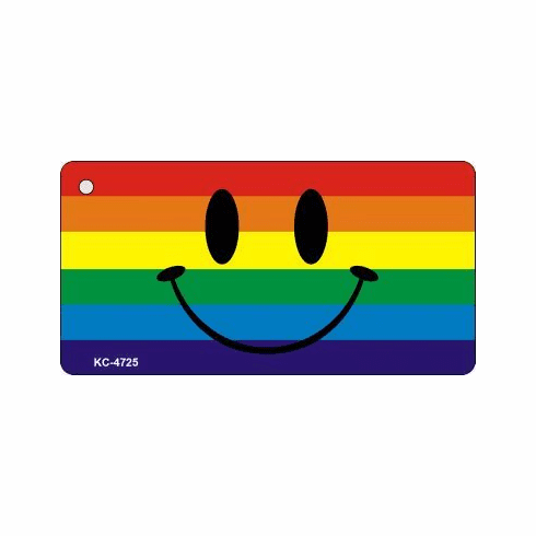 Rainbow Smiley Key Chain