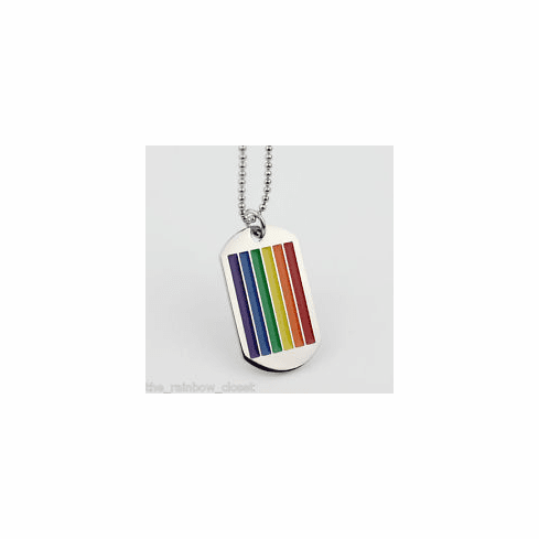 Rainbow Striped Dog tag