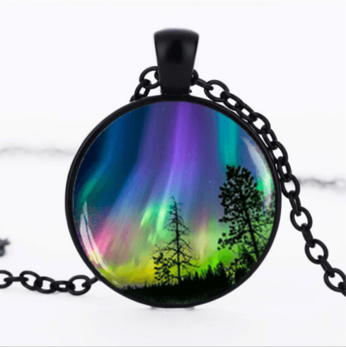 Trees and Sky Cabochon