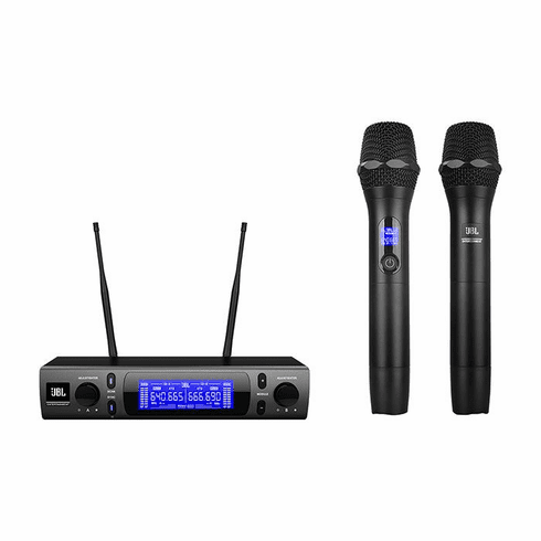 "JBL VM-300 Professional Dual Wireless Microphone Karaoke System for KTV Applications <font color=""#FF0000"">Built in CPU Controlled Selection &amp; Pilot Tone  Detection</font>"