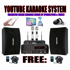 "<i><b><font color=""#FF0000"">Model: 2019 Youtube Karaoke by Iphone & Ipad &amp;  Tablet</font></b></i> Professional 2000W Complete Karaoke Package Speical Built in HDMI, Bluetooth Function <i><b><font color=""#FF0000"">Best Seller</font></b></i>"