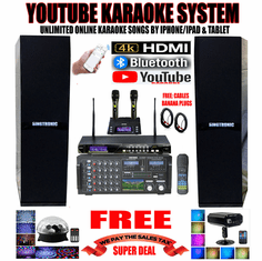 "<i><b><font color=""#FF0000"">Newest Model: 2019 Youtube Karaoke System by Iphone/Ipad &amp; PC Tablets</font></b></i> Professional 3000W Complete Karaoke System Special Built in HDMI, Voice Recording & Bluetooth with & 3.5"" LCD Screen <font color=""#FF0000""><b><i>Free: UHF-2000 Wireless Microphone</i></b></font> Perfect for DJ & KJ"