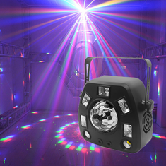 Singtronic 4 in 1 Party Laser LED Spot Disco Light with Remote Control & Music Sync.