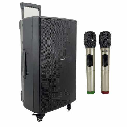 """Singtronic BT-1212Pro Professional Portable Double 12"""" Bluetooth Speaker via Youtube Karaoke System <font color=""""#FF0000"""">Free: 2 x Wireless Microphone</font> and Best Seller"""