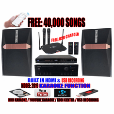 "Singtronic Complete 1000W Karaoke System Specials With FREE: 40,000 Songs  <b><font color=""#FF0000"">M<i>odel: 2019 With Voice Recording &amp; Wifi  Youtube Unlimited Karaoke Songs</i></font></b>"