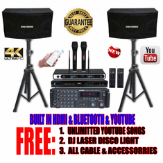 "Singtronic Complete Professional 1300W Karaoke System <font color=""#FF0000""><b><i>Newest: 2019 Loaded 50,000 Songs</i></b></font> Wifi, HDMI, Voice Recording & Unlimited Youtube Karaoke Songs"