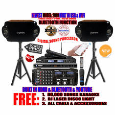 """Singtronic Complete Professional 2000W Karaoke System <font color=""""#FF0000""""><b><i>Model: 2019 Loaded 80,000 Songs</i></b></font> Wifi, HDMI, Voice Recording, Bluetooth & Youtube Unlimited Songs"""