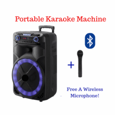 "Singtronic H & A Professional Portable 15"" Woofer Bluetooth via Youtube Karaoke System <font color=""#FF0000"">Free: Wireless Microphone Karaoke</font>"
