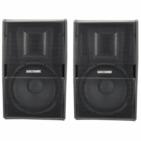 "Singtronic KS-1500Pro Professional 1500W + 1500W Vocalist Karaoke Speaker System (Pair) <font color=""#FF0000"">Newest: 2019 Built in Compressor &amp; 12&quot; Woofer</font>"