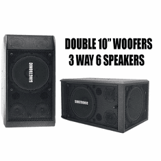 "Singtronic KS-2000 Professional 3000W Vocalist Karaoke Speaker System (Pair) <font color=""#FF0000"">Newest: 2019 Super Tweeters &amp; Double 10&quot; Woofer</font>"