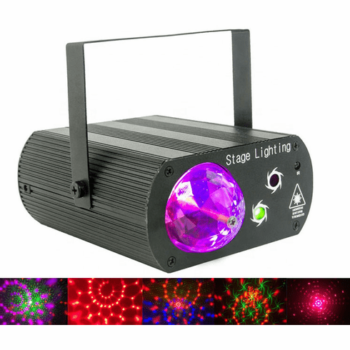 Singtronic L.E.D Mini Party Laser Spot Disco Light with Remote Control & Sync Music Beat