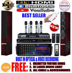 "Singtronic Professional Complete 3000W Karaoke System <font color=""#FF0000""><b><i>Model: 2020 Loaded 80,000 Songs</i></b></font> Wifi, HDMI, Voice Recording & Youtube Unlimited Songs <font color=""#0700FF"">Best Seller</font>"