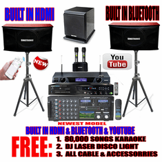"Singtronic Professional Complete 3000W Karaoke System <font color=""#FF0000""><b><i>Newst: 2019 Loaded 80,000 Songs</i></b></font> Wifi, Voice Recording, Bluetooth Free: Power Subwoofer"