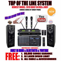 "Singtronic Professional Complete 4000W Karaoke System <font color=""#FF0000""><b><i>Top of The Line Model: 2019 Super Tweeters &amp; Monster Bass W/ Wifi & Voice Recording</i></b></font> FREE: 80,000 Songs & Youtube Songs"