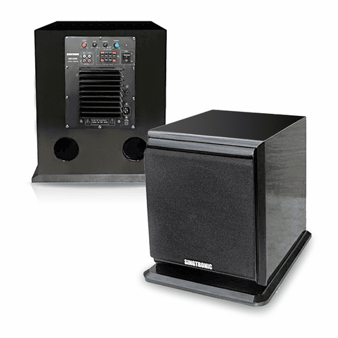 Singtronic SW-350B Professional Power 500 WattsS Pre-Amplifier Sub-Woofer Built in 5.1 Output and High Gross Piano Wood