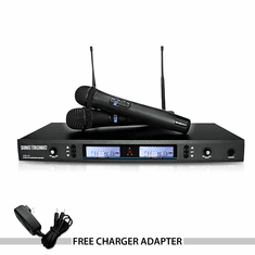 "Singtronic UHF-1500 Professional Dual Rechargeable Wireless Microphone Karaoke System <font color=""#FF0000""><b><i>FREE: Charger Adapter</i></b></font>"