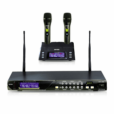 "Singtronic UHF-2000 Professional Digital Dual Wireless Rechargeable Microphone Karaoke System <b><i><font color=""#FF0000"">Model: 2019 Feedback Control</font></i></b>"