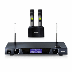 "Singtronic UHF-2500 Professional Digital Dual Rechargeable Wireless Microphone Karaoke System <b><i><font color=""#FF0000"">Built in Lithium Battery</font></i></b>"