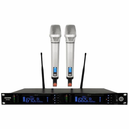 """Singtronic UHF-4500Pro Professional Digital Dual PLL Wireless Microphone Karaoke System <b><i><font color=""""#FF0000"""">Newest Release: 2020 Top of the Line, Feedback Control</font></i></b>"""