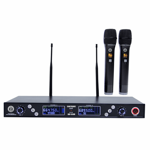 """Singtronic UHF-550M Professonal Dual UHF 800MHz Wireless Microphone Karaok System <i><b><font color=""""#FF0000"""">Newest Model: 2020</font></b></i> Highly Recommended"""