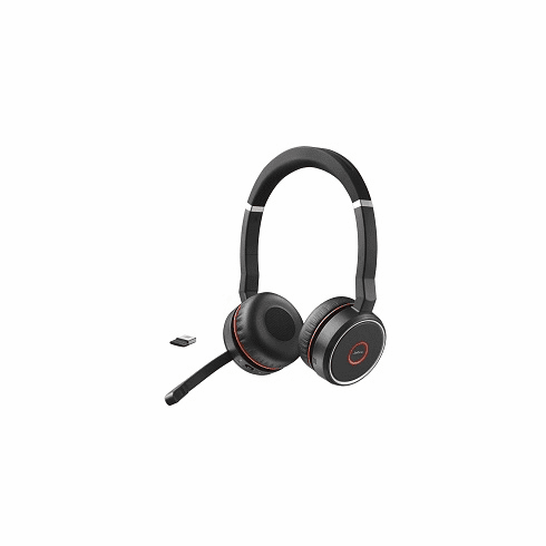 Jabra Evolve 75 Wireless Bluetooth Duo MS Headset with Active Noise Ca