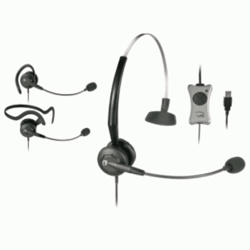 VXI TalkPro UC3 Convertible USB Headset