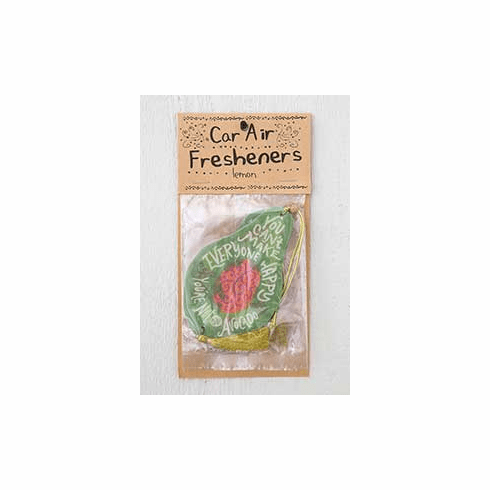"Avocado Car Air Freshener - ""Natural Life"""