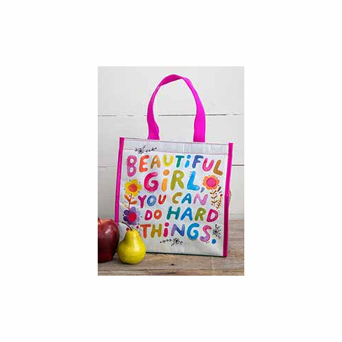 "Beautiful Girl Insulated Lunch Tote - ""Natural Life"""